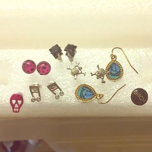 NWOT lot of 10 earrings, 4 pair & 2 single